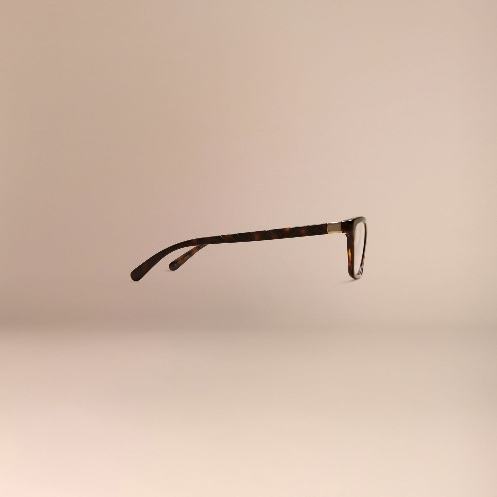 Écaille de tortue Monture œil de chat pour lunettes de vue à motif check Écaille  Tortue - photo de la galerie 5