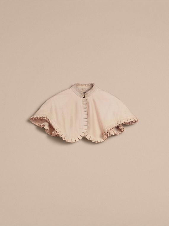 Ruffled Suede Cropped Cape - Women | Burberry - cell image 3