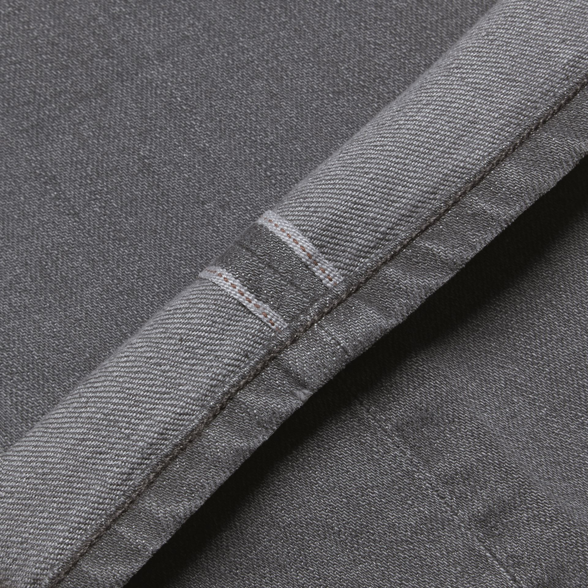Dark grey Straight Fit Japanese Selvedge Denim Jeans - gallery image 2
