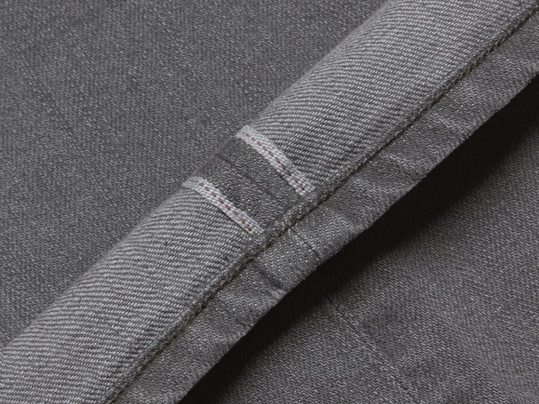 Dark grey Straight Fit Japanese Selvedge Denim Jeans - cell image 1