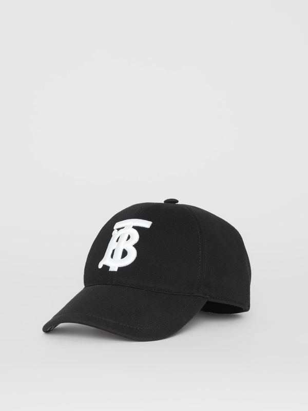 Monogram Motif Baseball Cap in Black | Burberry United States - cell image 2