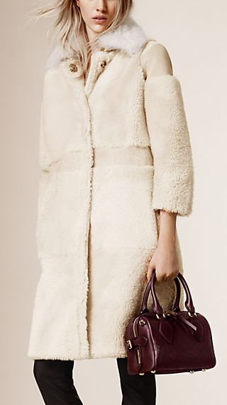Shearling and Suede Car Coat