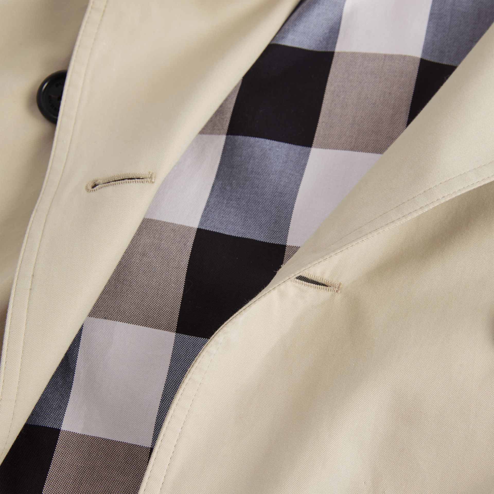 Kensington Fit Cotton Gabardine Trench Coat in Stone - Women | Burberry Hong Kong - gallery image 8