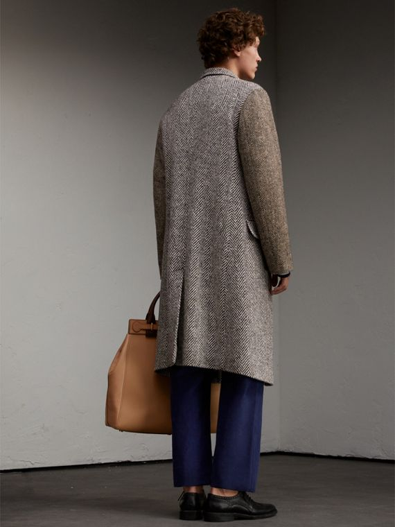 Donegal Herringbone Wool Tweed Chesterfield - Men | Burberry - cell image 2