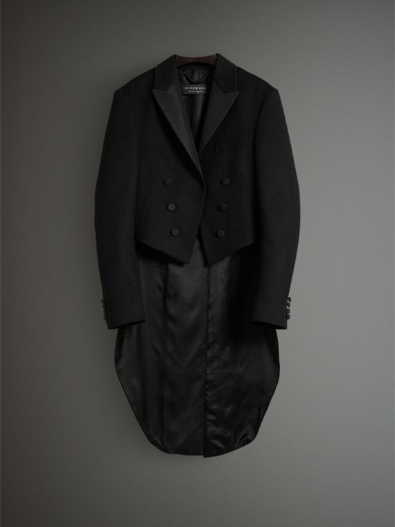Felted Wool Tailcoat in Black - Men | Burberry Hong Kong - cell image 3