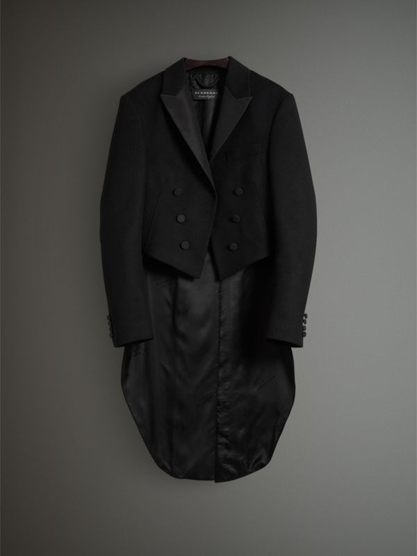 Felted Wool Tailcoat in Black - Men | Burberry United Kingdom - cell image 3