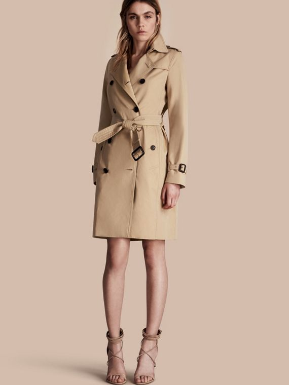 The Kensington – Langer Heritage-Trenchcoat Honiggelb