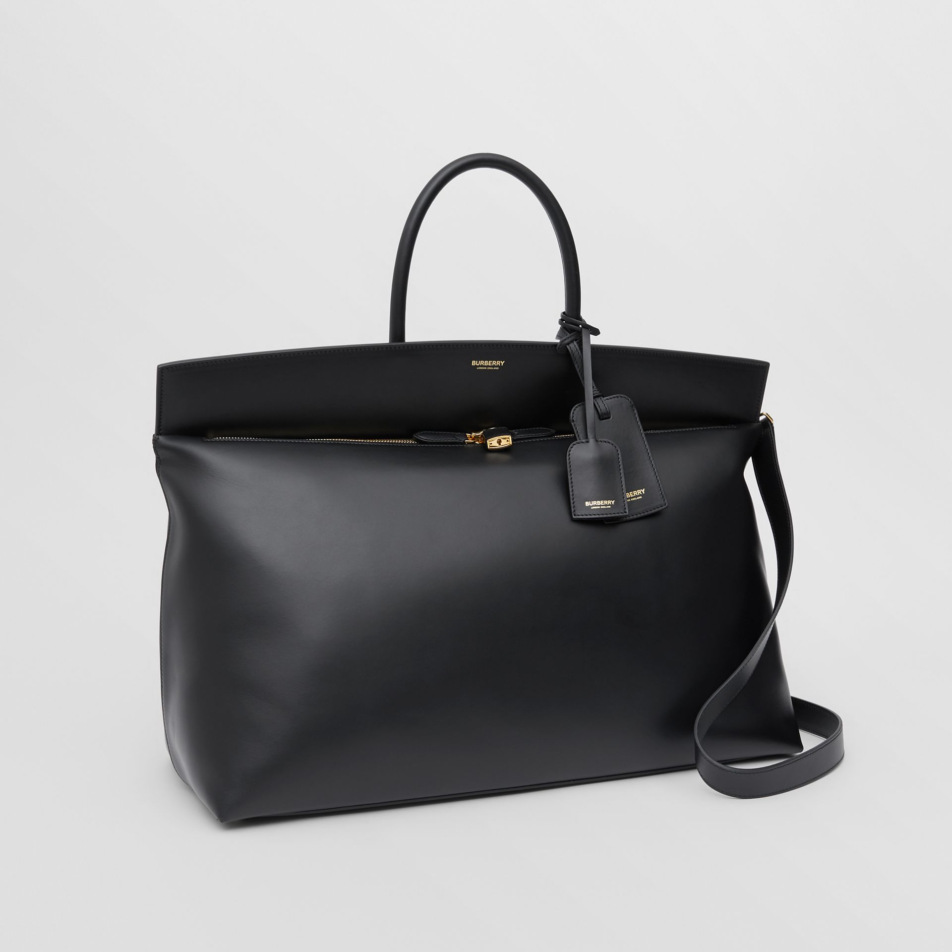 Extra Large Leather Society Top Handle Bag in Black - Men | Burberry Hong Kong S.A.R - gallery image 4