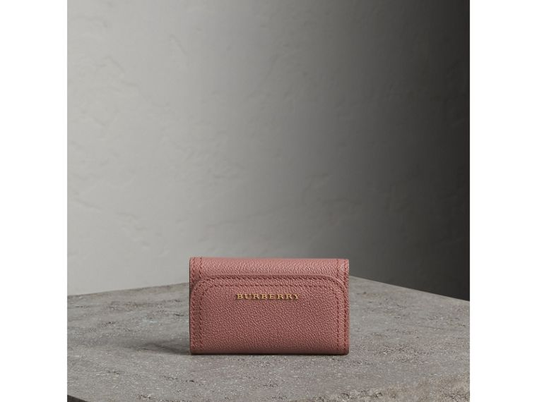 Grainy Leather Key Holder in Dusty Pink - Women | Burberry - cell image 4