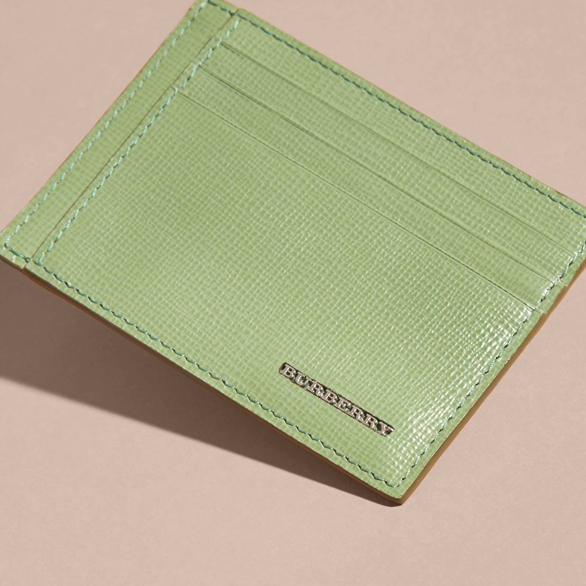London Leather Card Case in Antique Green - gallery image 5