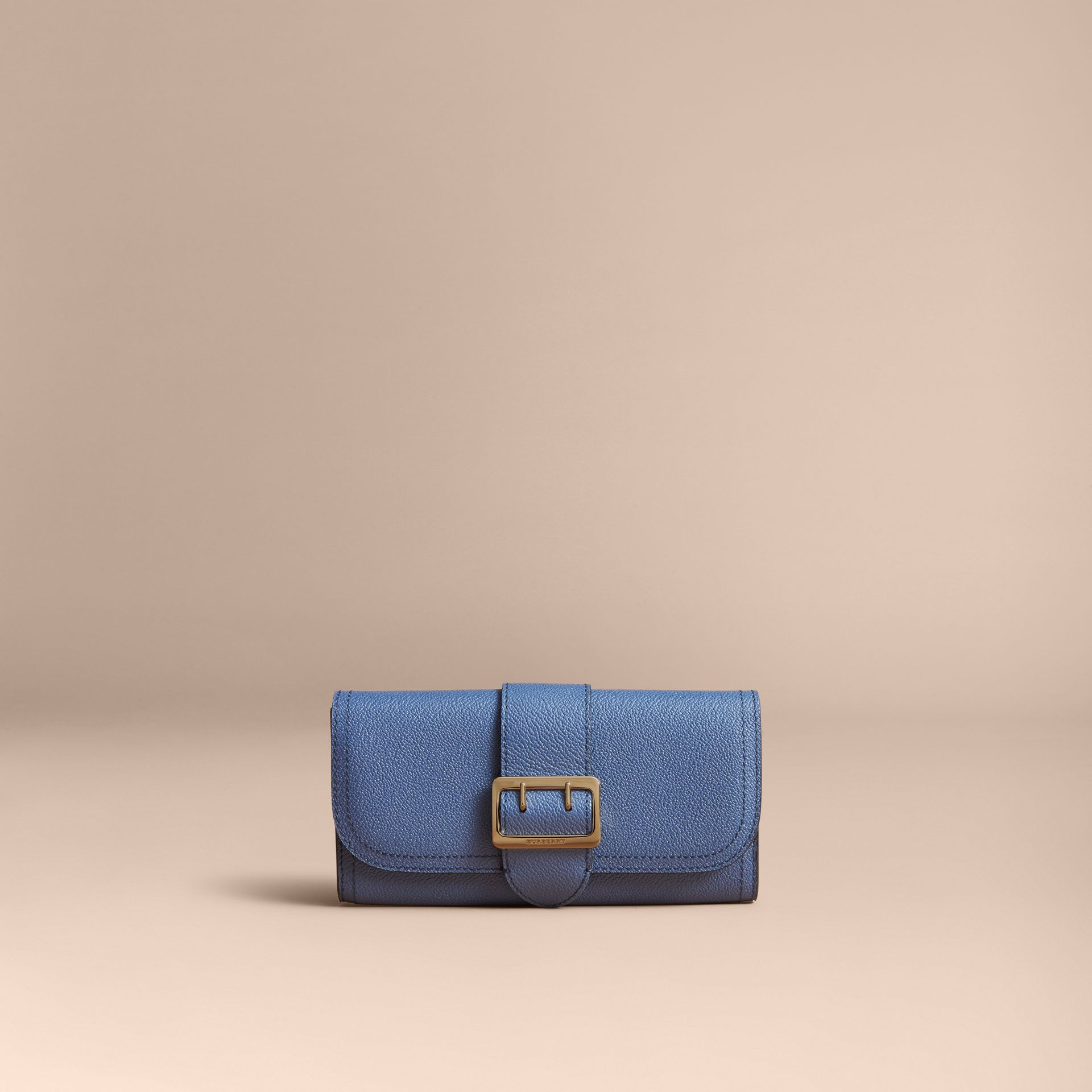 Textured Leather Continental Wallet in Steel Blue - Women | Burberry Singapore - gallery image 5