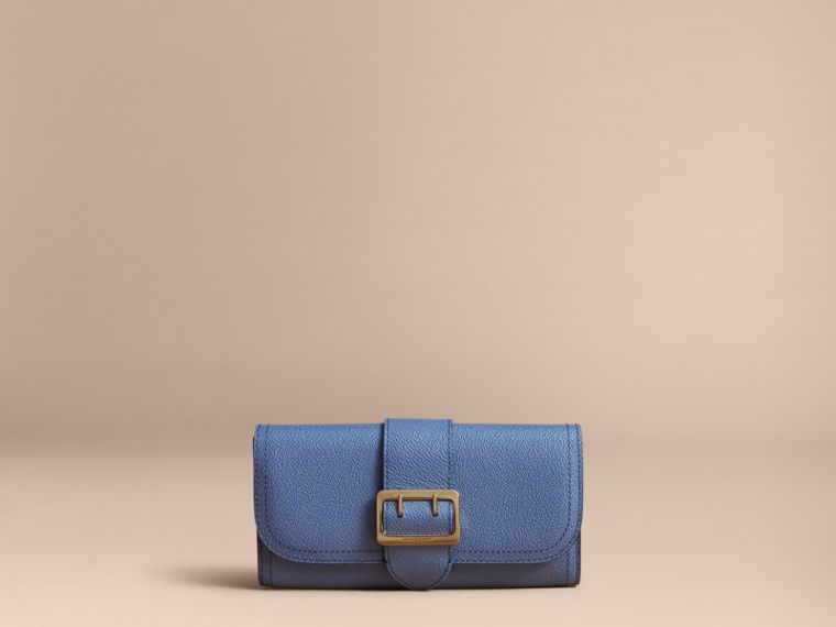 Textured Leather Continental Wallet in Steel Blue - Women | Burberry Singapore - cell image 4