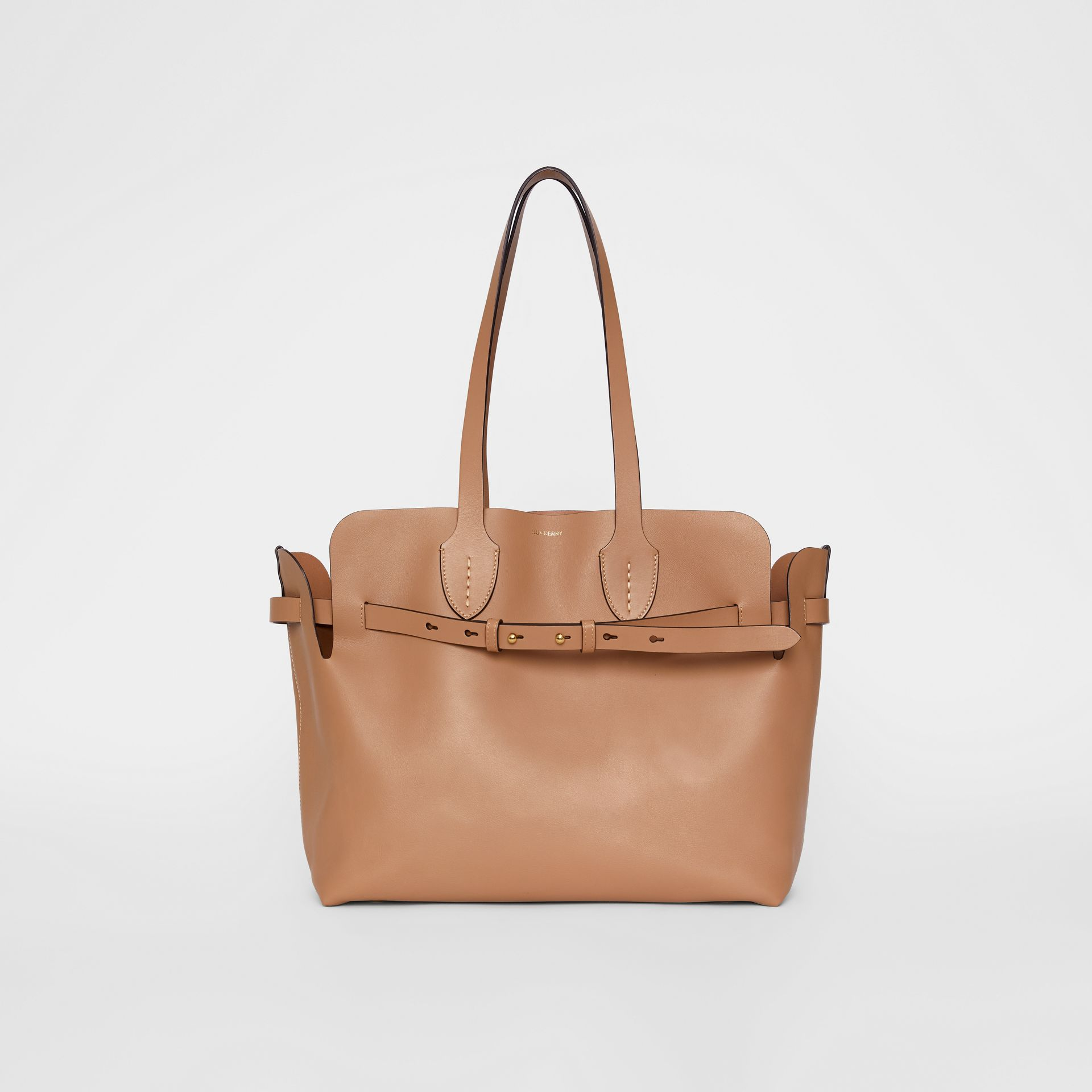 The Medium Soft Leather Belt Bag in Light Camel - Women | Burberry - gallery image 0