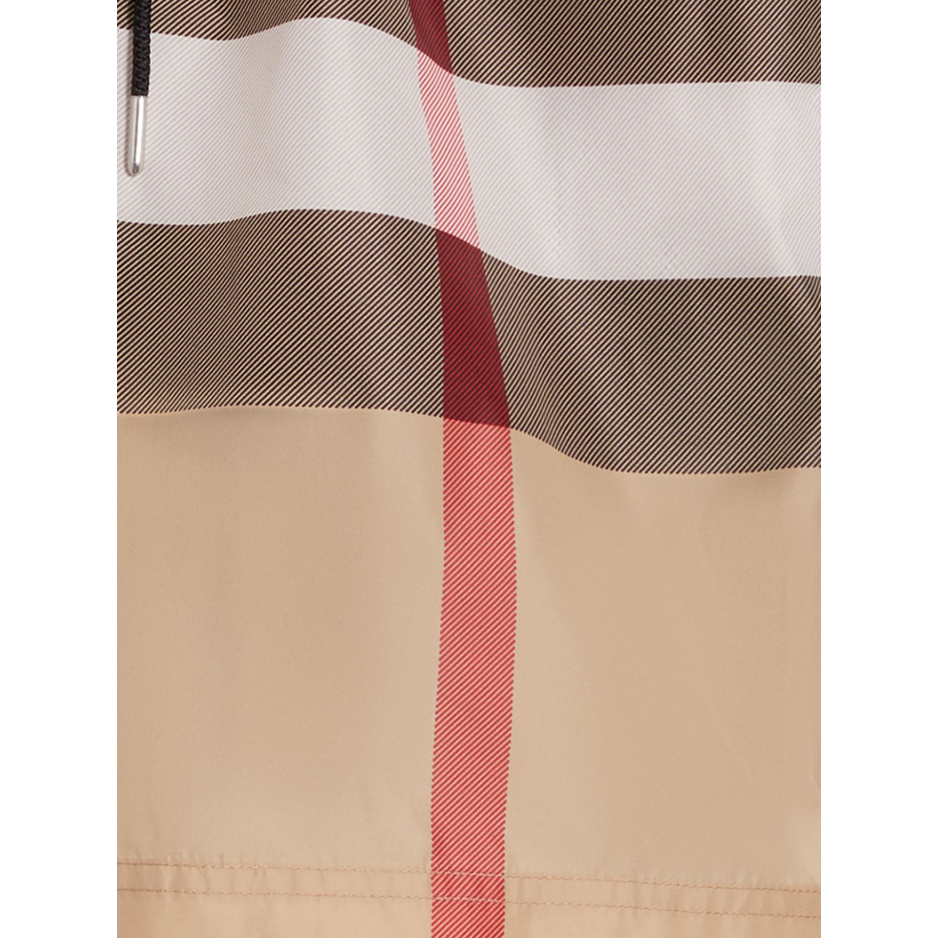 Check Drawcord Swim Shorts in Camel - Men | Burberry - gallery image 1