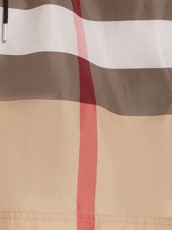 Check Drawcord Swim Shorts in Camel - Men | Burberry - cell image 1