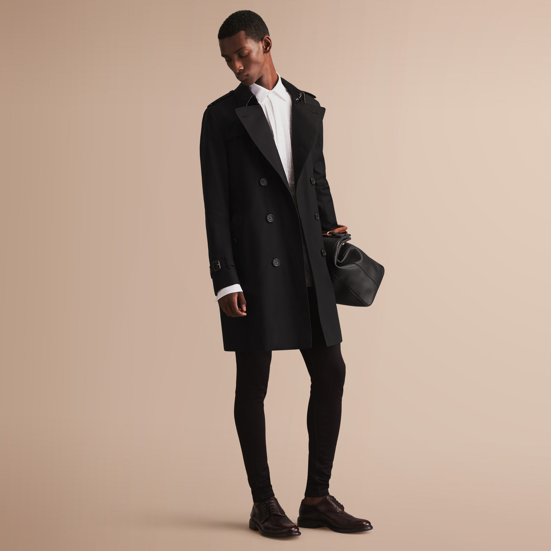 The Sandringham – Long Heritage Trench Coat in Black - gallery image 1