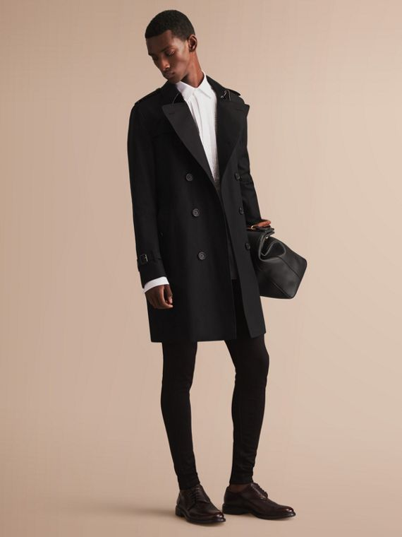 The Sandringham - Trench coat Heritage longo (Preto)