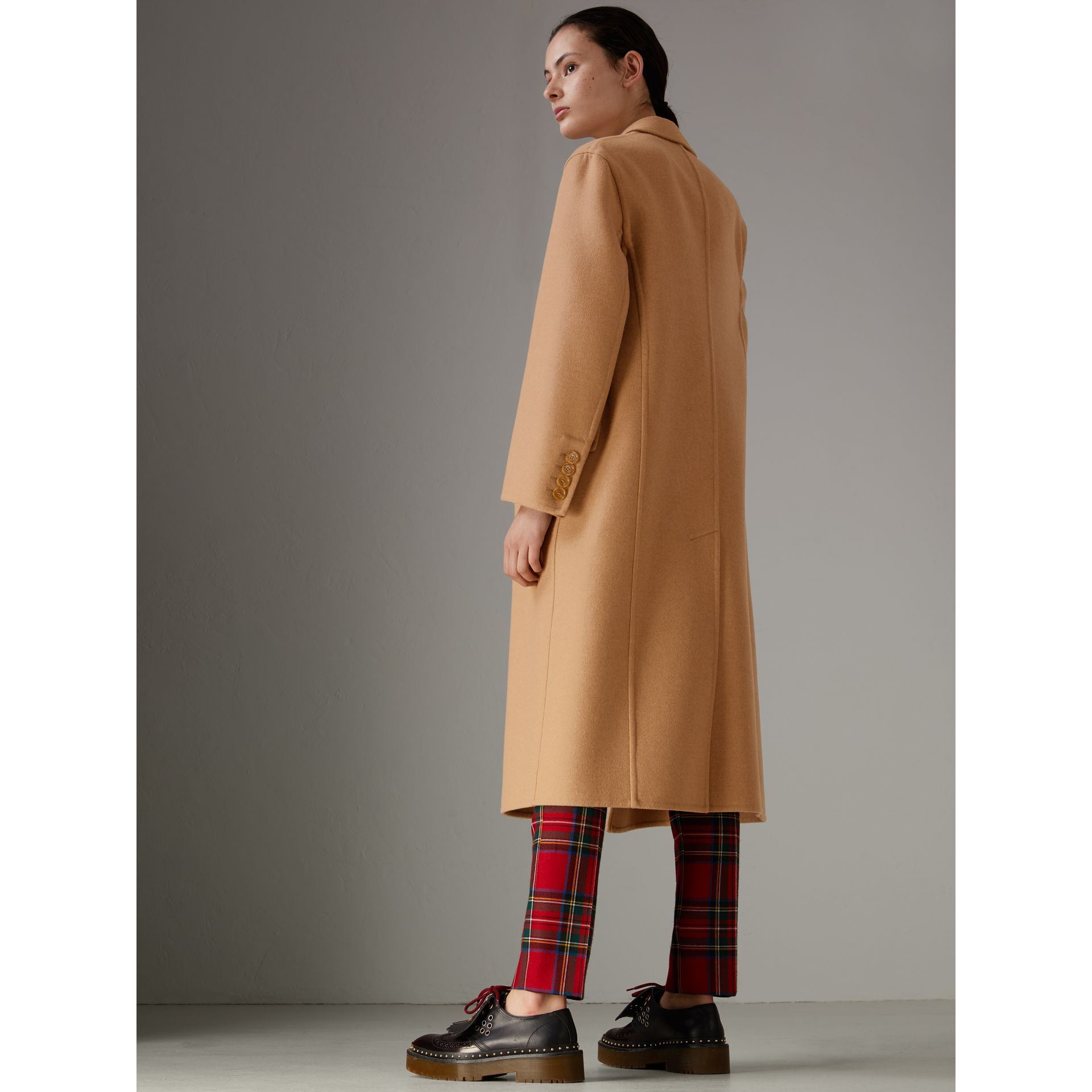 Double Camel Hair Tailored Coat - Women | Burberry Singapore - gallery image 4