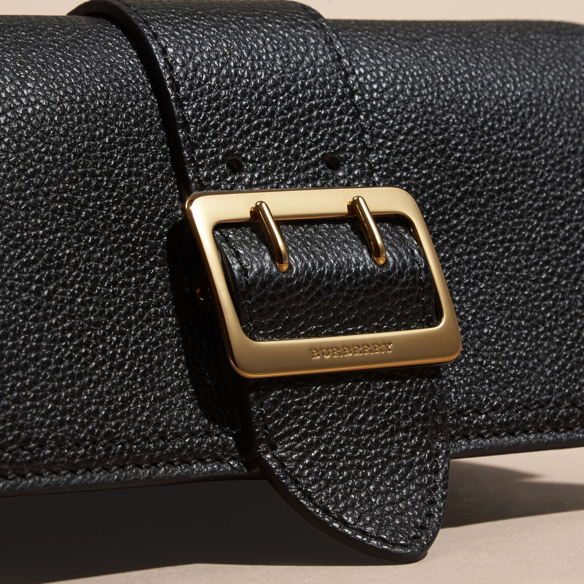 Textured Leather Continental Wallet in Black - Women | Burberry - gallery image 4