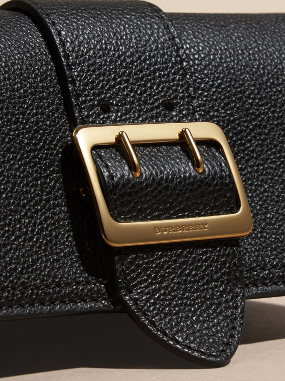 Textured Leather Continental Wallet in Black - Women | Burberry - cell image 3