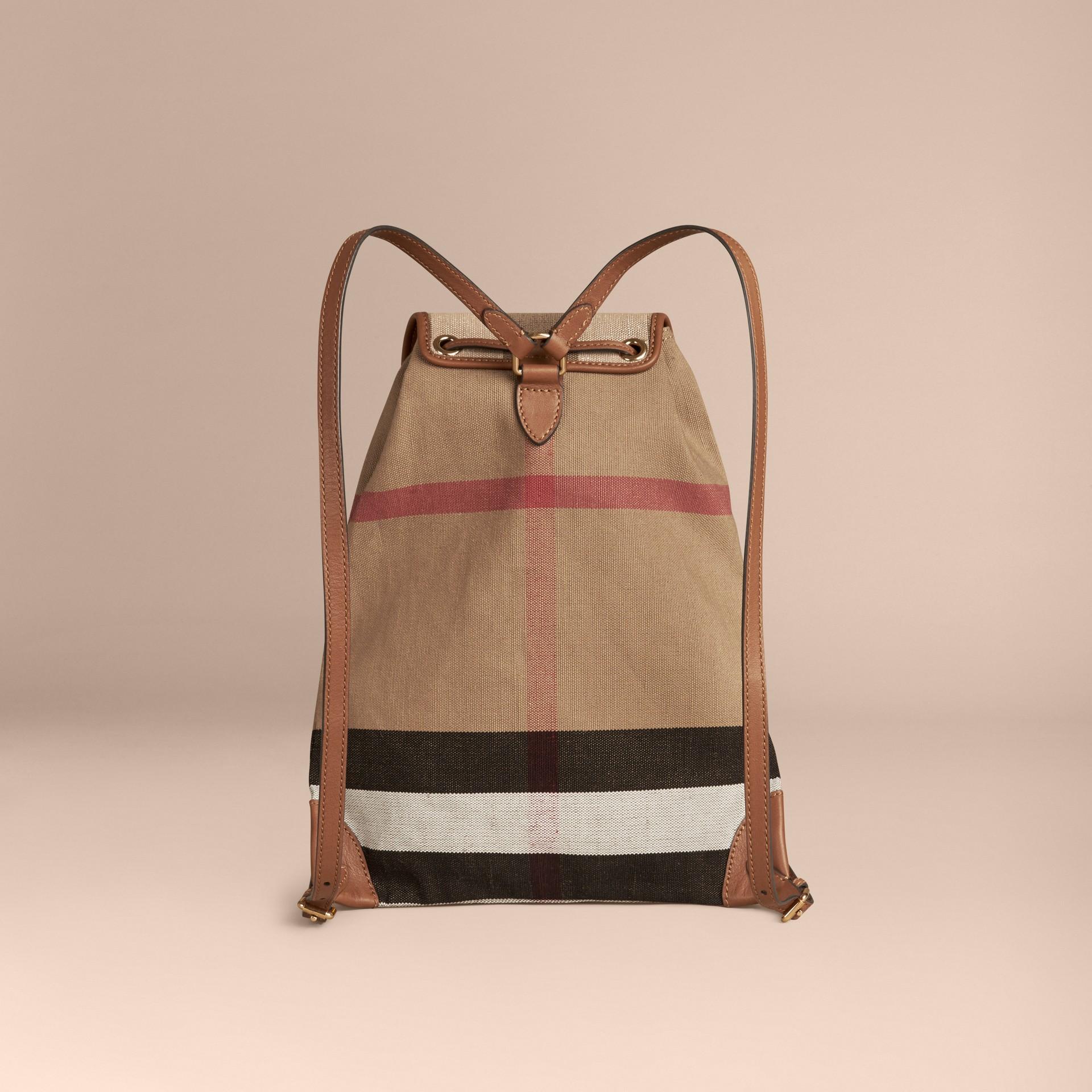 Рыжевато-коричневый Рюкзак в клетку Canvas Check Рыжевато-коричневый - изображение 2