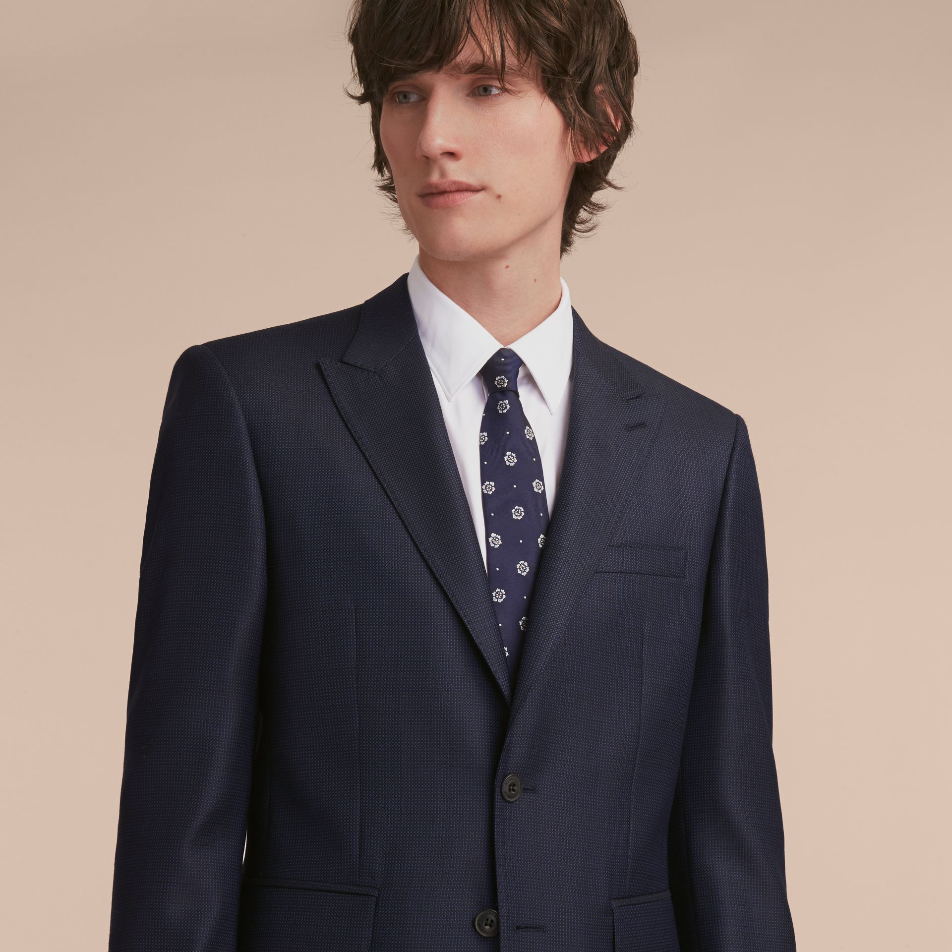 Modern Fit Wool Silk Part-canvas Suit - Men | Burberry - gallery image 7