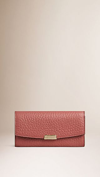 Signature Grain Leather Continental Wallet