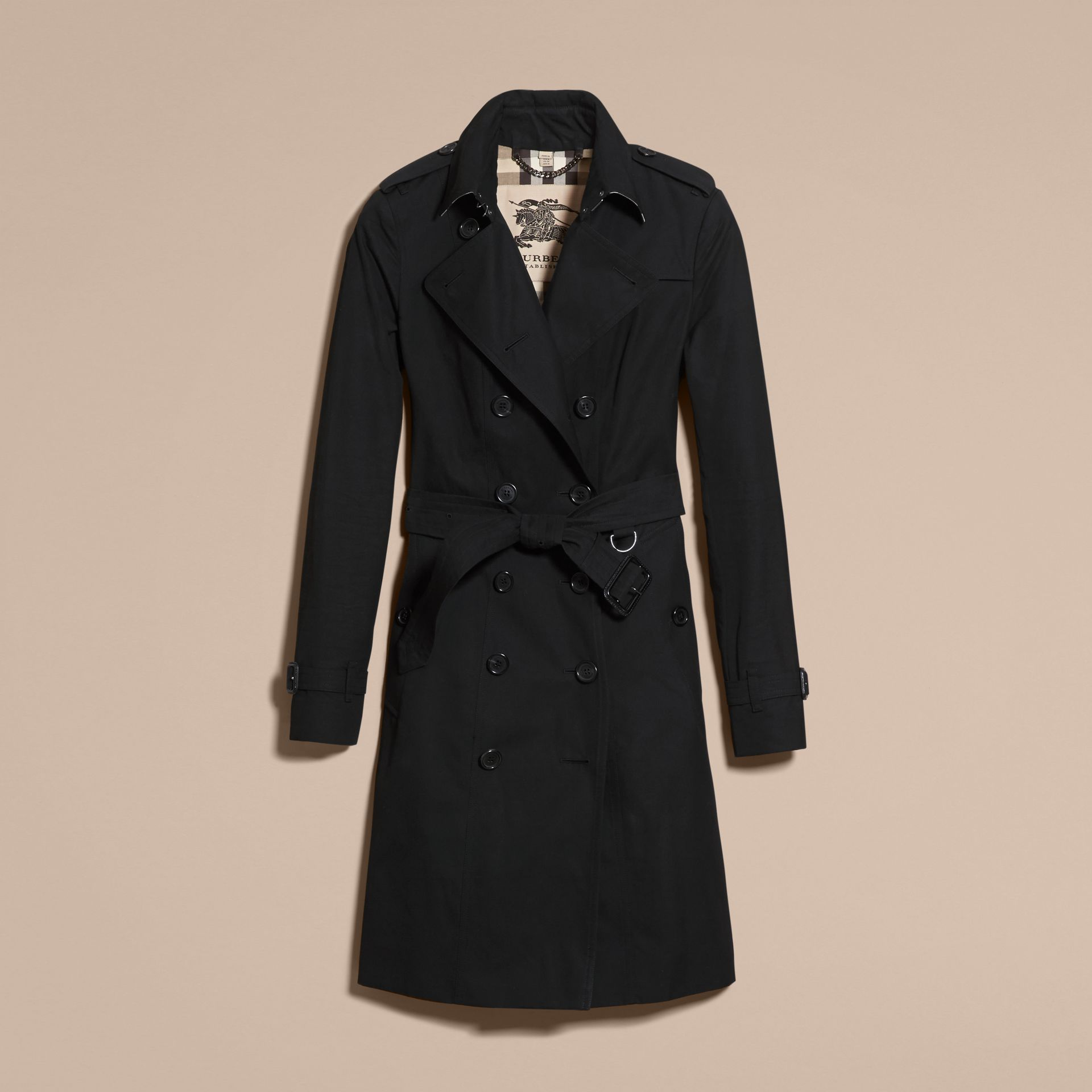 Black The Sandringham – Extra-long Heritage Trench Coat Black - gallery image 4