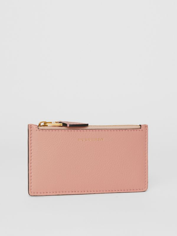 Two-tone Leather Zip Card Case in Ash Rose - Women | Burberry - cell image 3