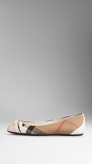 Bridle House Check Ballerinas
