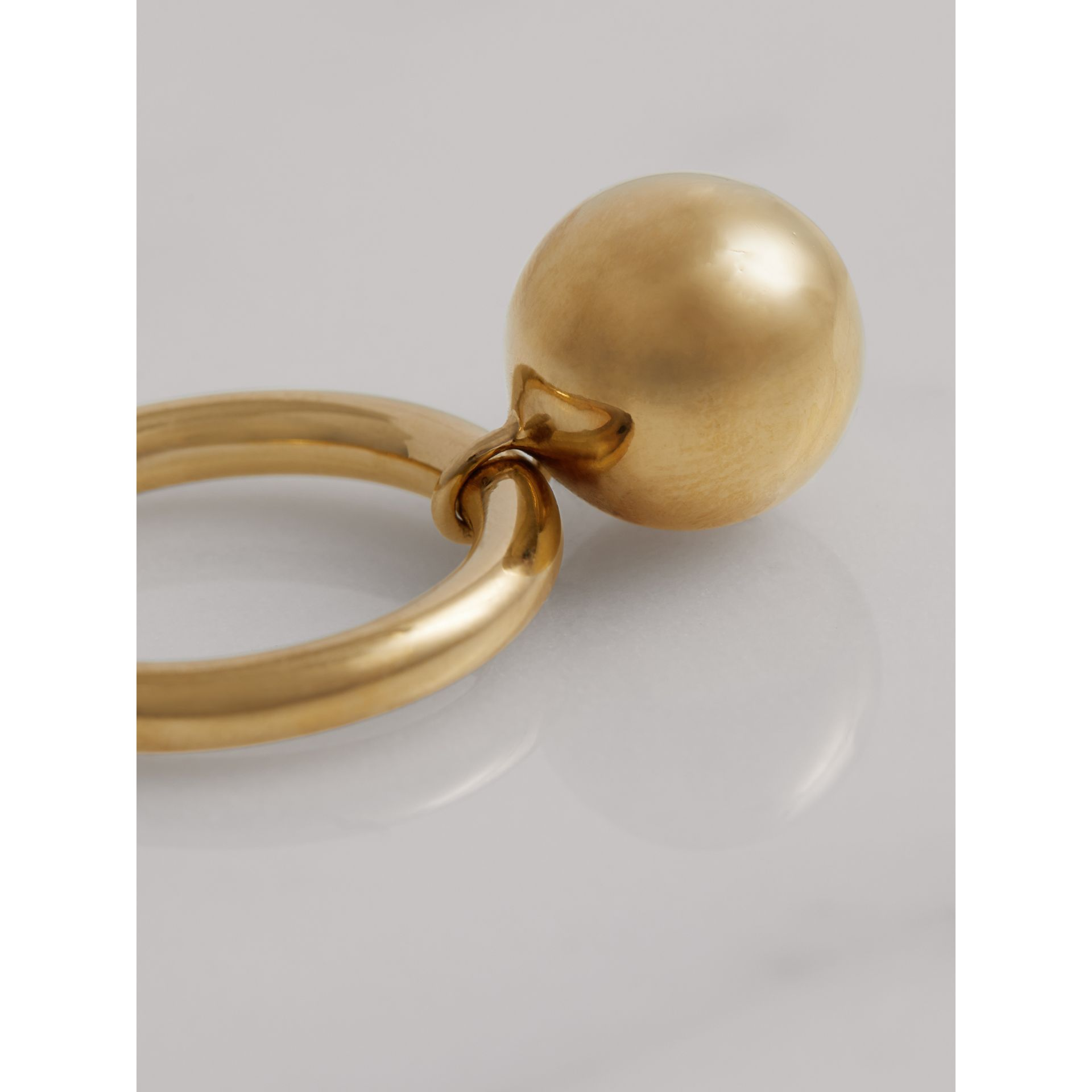 Charm Gold-plated Ring in Light - Women | Burberry United States - gallery image 2