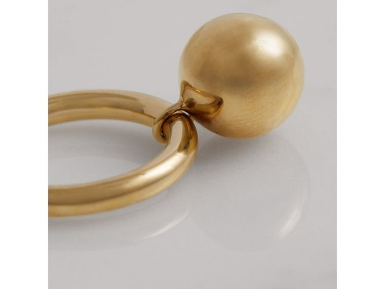 Charm Gold-plated Ring in Light - Women | Burberry - cell image 2
