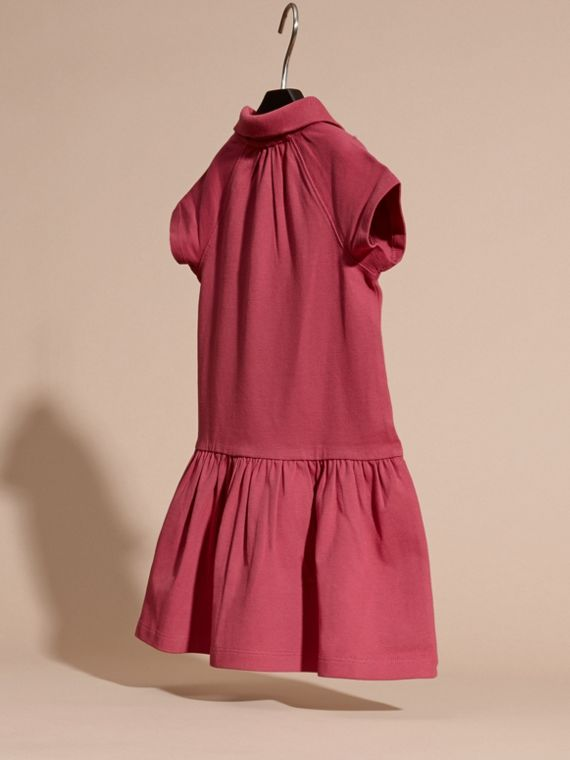 Peony rose Check Placket Cotton Blend T-Shirt Dress Peony Rose - cell image 3