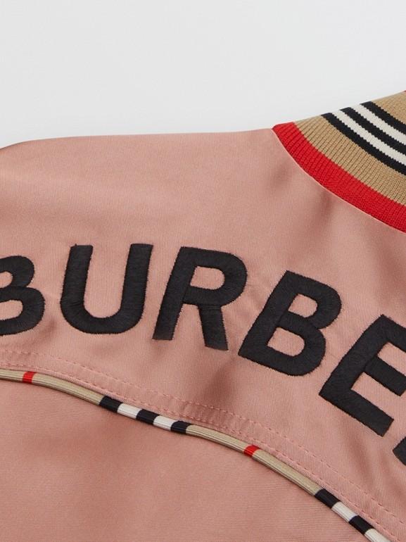 Deer Motif Sateen Bomber Jacket in Dusty Pink - Children | Burberry United Kingdom - cell image 1
