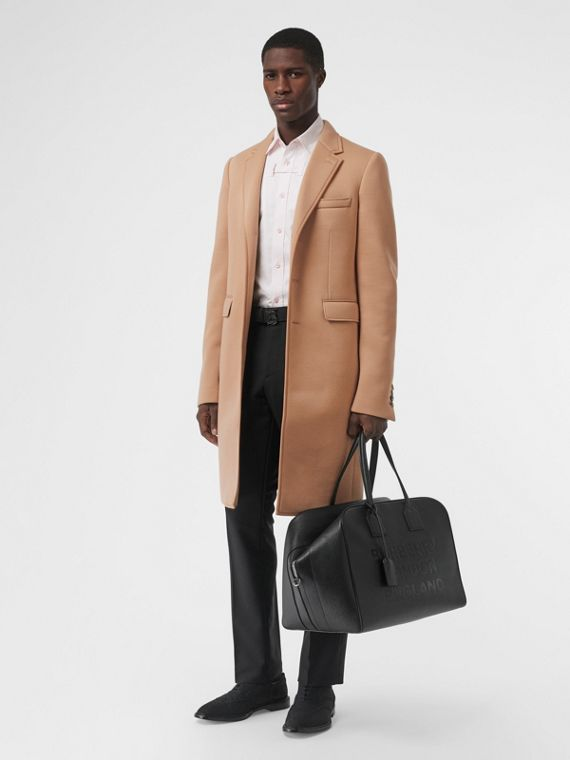 Neoprene Tailored Coat in Beige