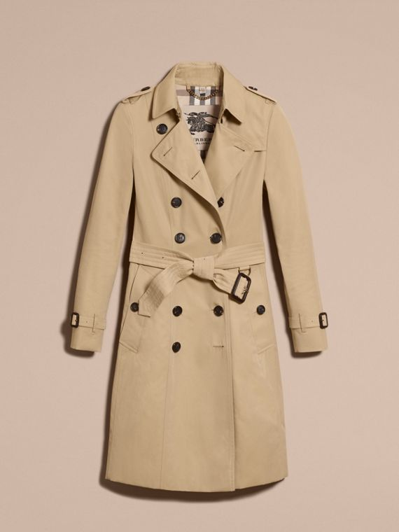 Honey The Chelsea – Long Heritage Trench Coat Honey - cell image 3