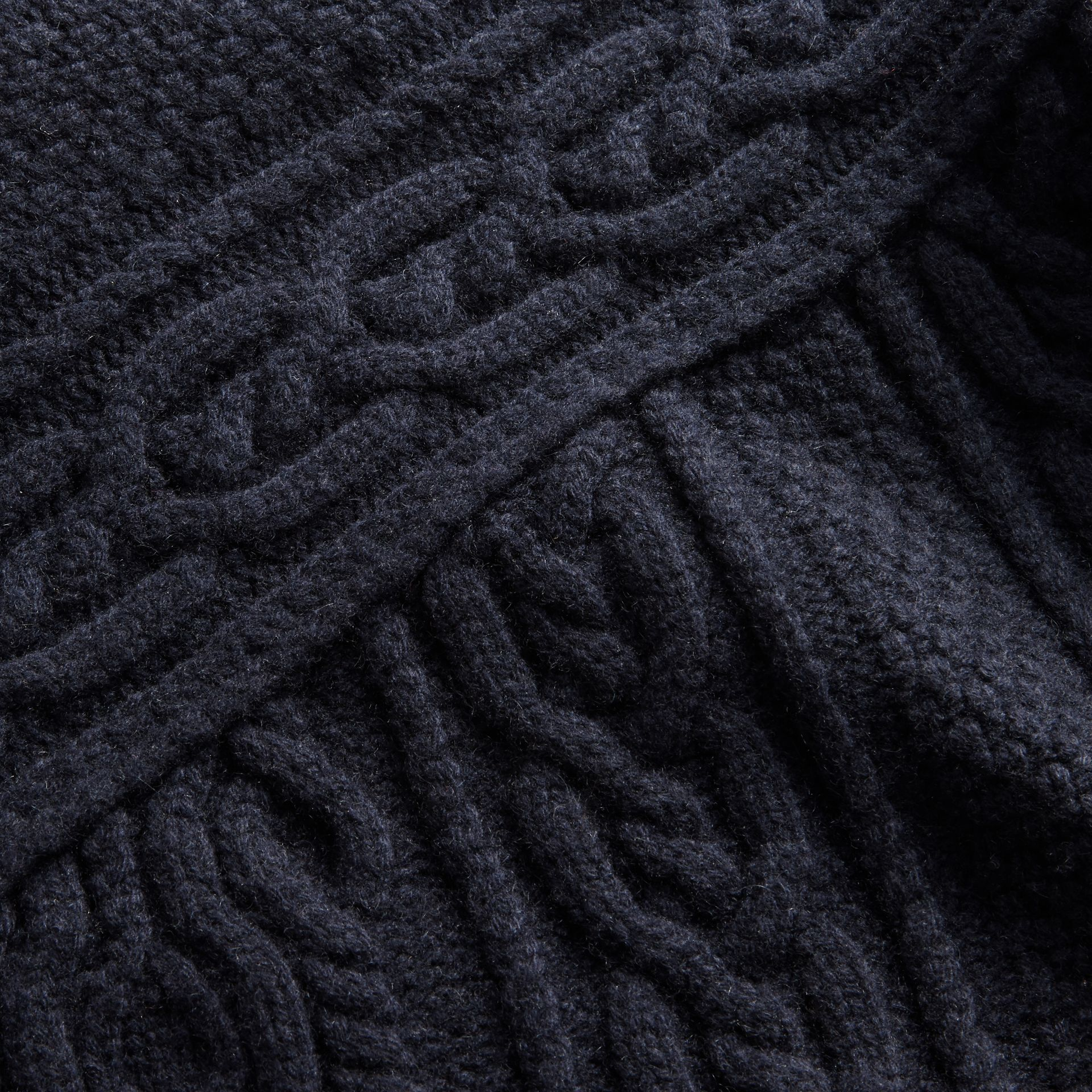 Cashmere Sweater with Cable Knit Detail - gallery image 2