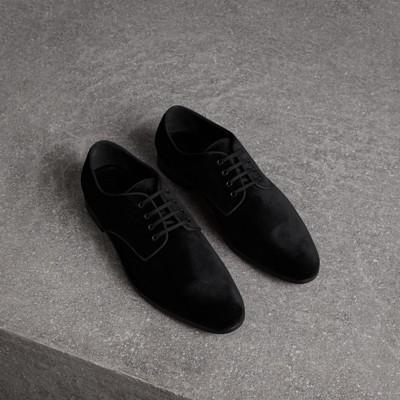 Velvet Derby Shoes - Black Burberry yFXB2QIlhn
