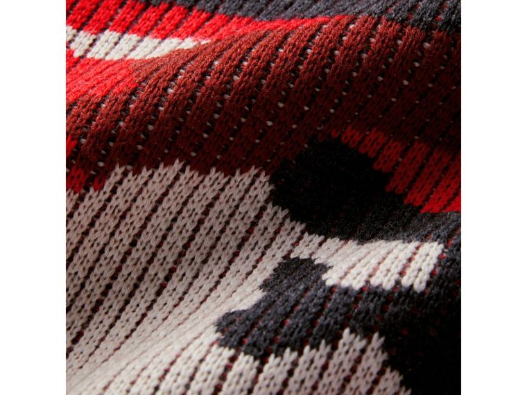 Camouflage Merino Wool Jacquard Sweater in Bright Red - Boy | Burberry - cell image 1