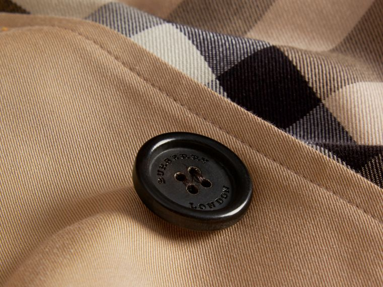 Cotton Gabardine Car Coat in Honey - cell image 1