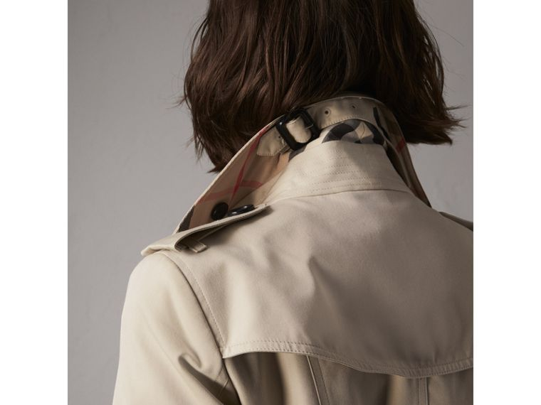 The Sandringham – Extra-long Trench Coat in Stone - Women | Burberry Singapore - cell image 1