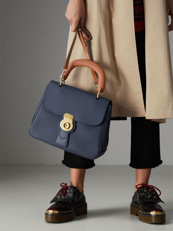The Medium DK88 Top Handle Bag in Ink Blue - Women | Burberry United Kingdom - cell image 3