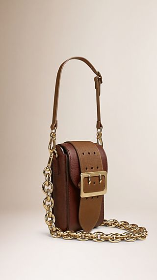 Sac The Belt oblong en cuir texturé