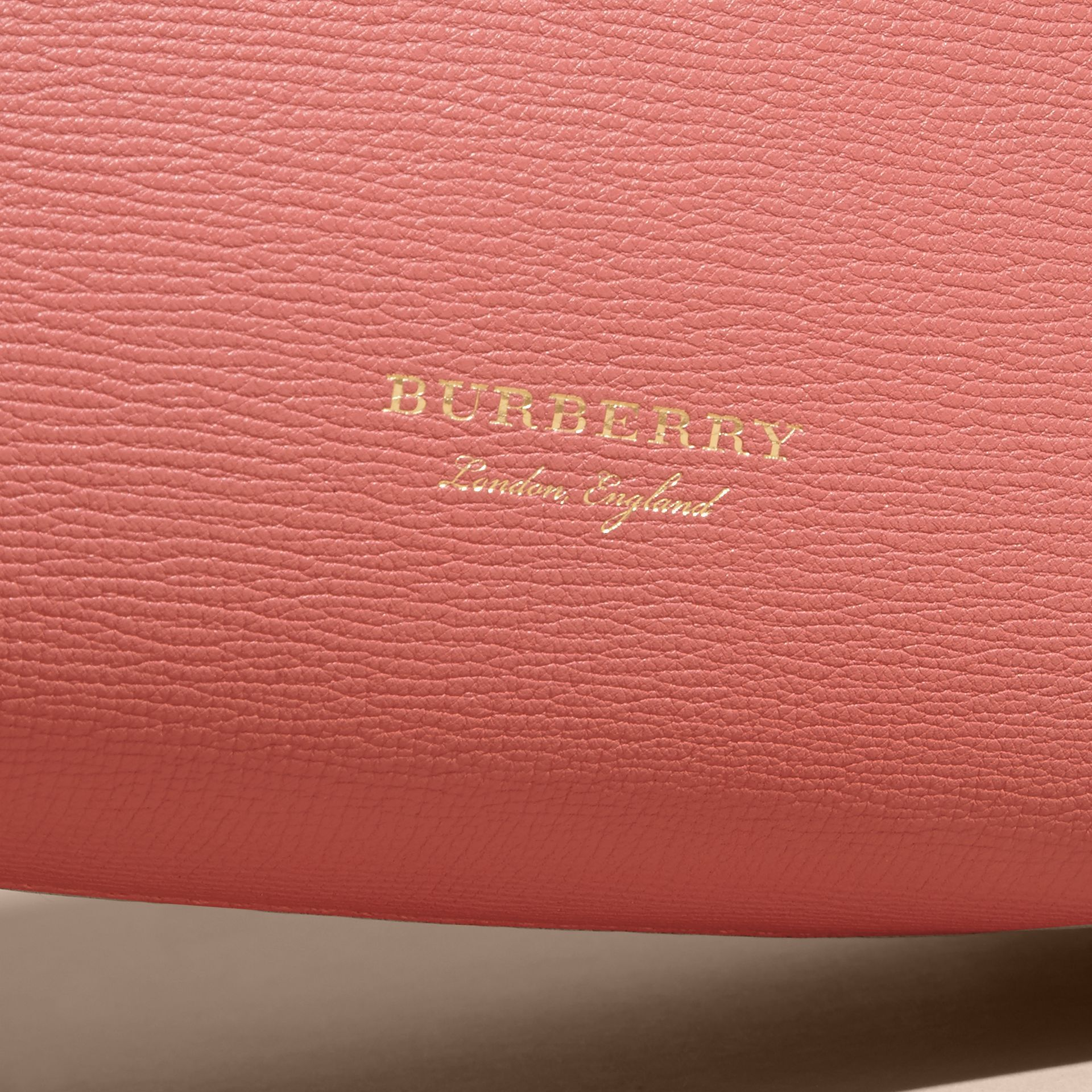 The Medium Banner in Leather with  Tonal Appliqué - Women | Burberry - gallery image 7