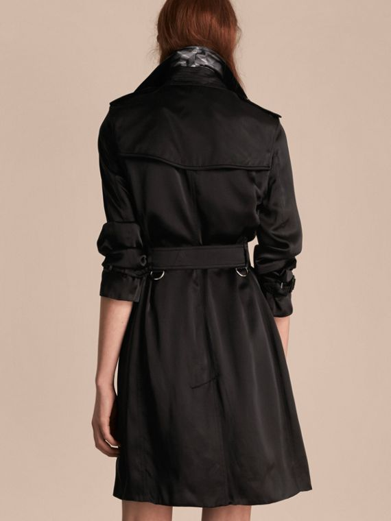 Black Silk Trench Coat - cell image 2