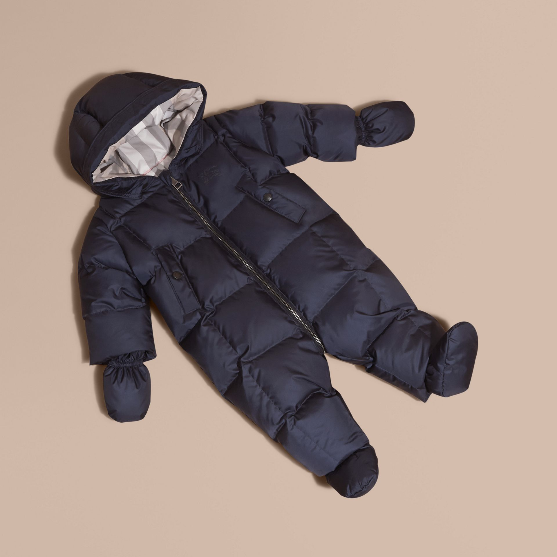 Down-filled Puffer Suit in Navy - gallery image 1