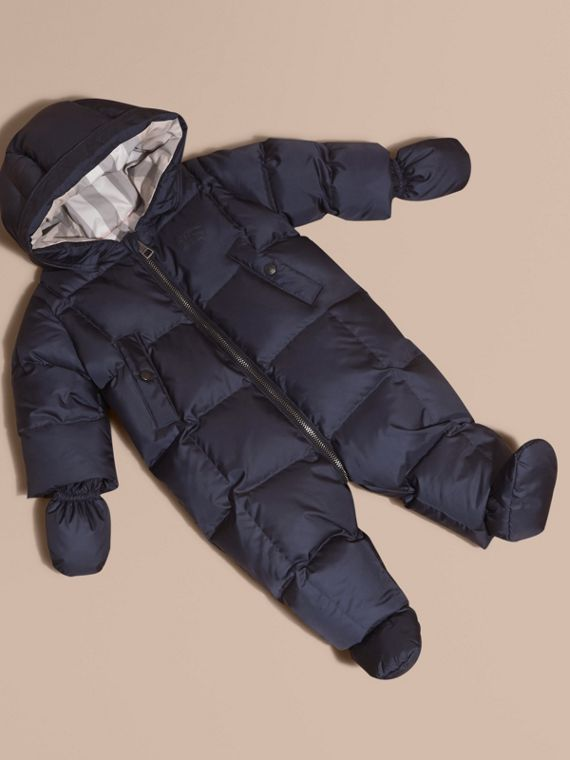 Down-filled Puffer Suit in Navy | Burberry Australia
