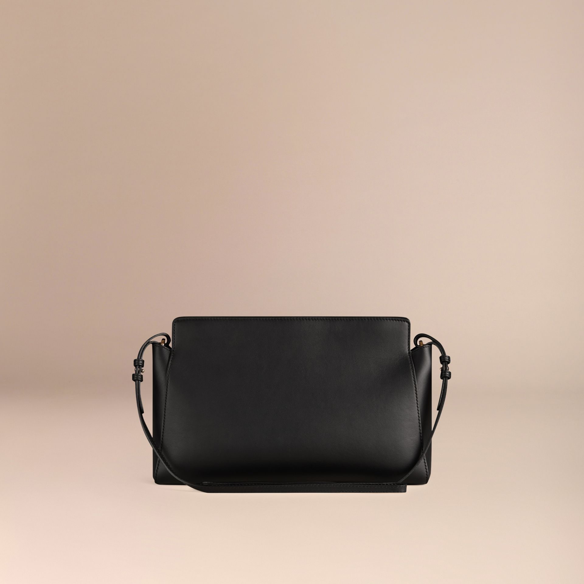 Black The Saddle Clutch in Bonded Leather - gallery image 4