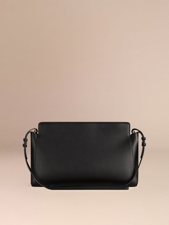 Black The Saddle Clutch in Bonded Leather - cell image 3