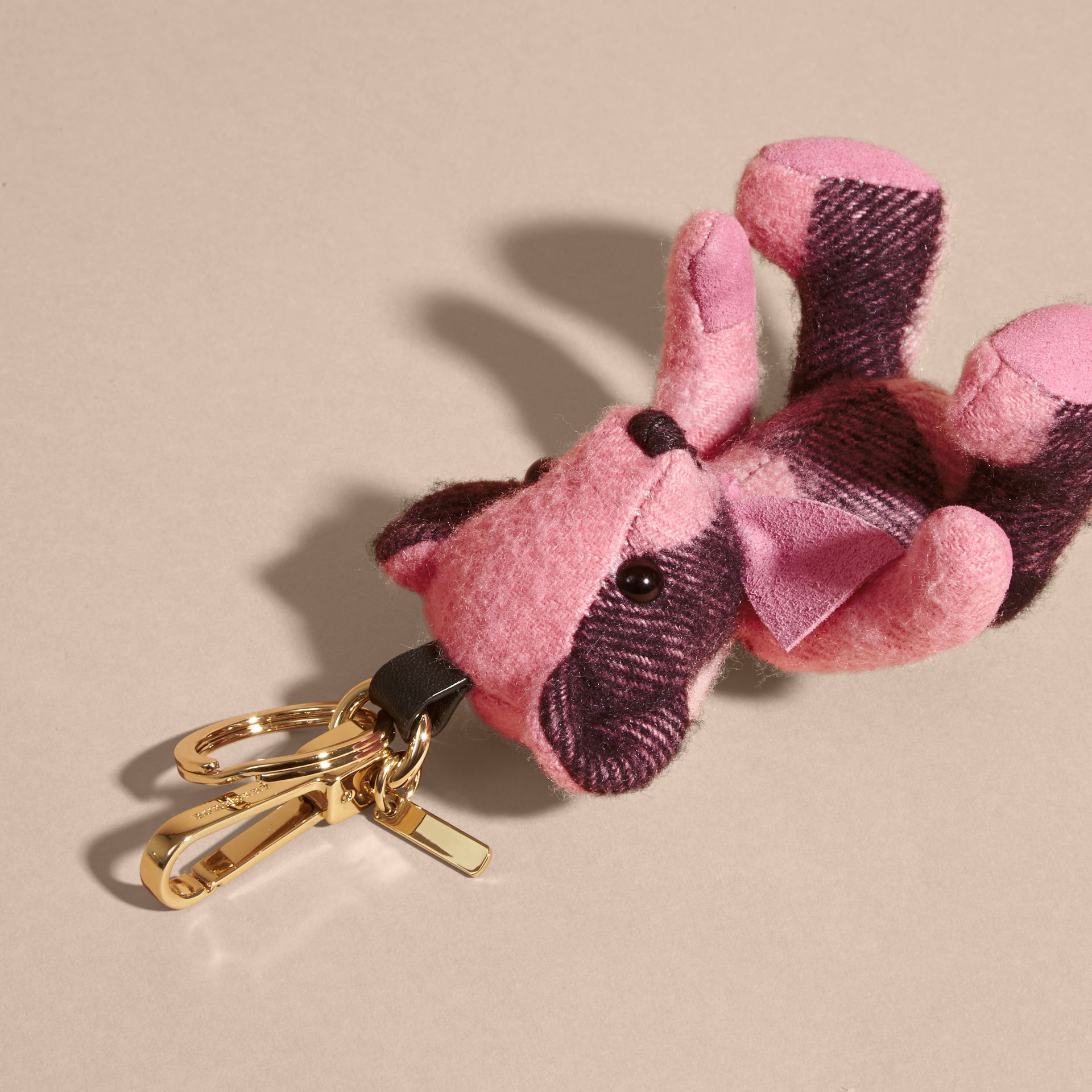 Rose pink Thomas Bear Charm in Check Cashmere Rose Pink - gallery image 4